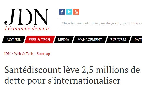 Santédiscount lève 2,5 millions de dette pour s'internationaliser