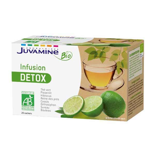 Drainer son corps avec Juvamine - Infusion Bio - Détox 20 sachets